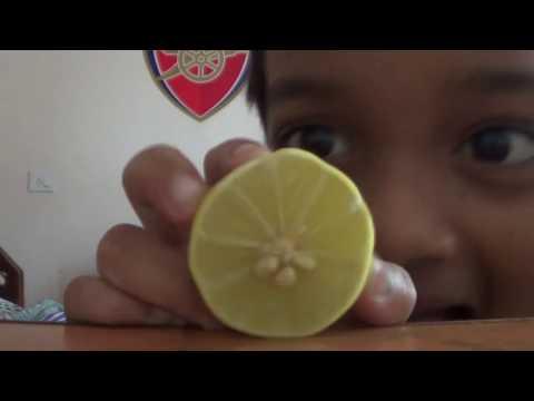 Yash making lemon juice