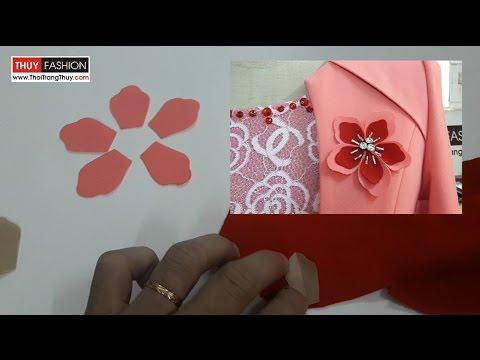 Cách làm hoa vải cài áo Thời Trang Thủy | Making fabric flowers
