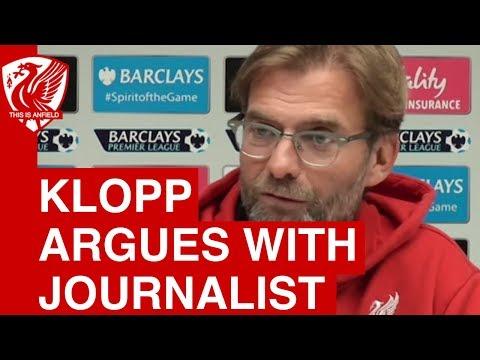 Jurgen Klopp's disagreement with a journalist