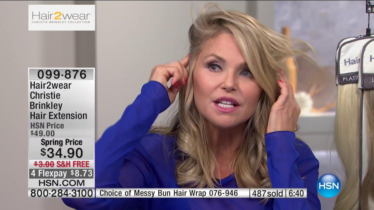 Hsn Christie Brinkley Hair Extensions Skincare Beauty Innovations 03 28 2017 02 Pm