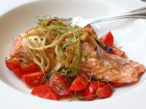 Fennel Smoked Salmon - Hot-Smoked Salmon Recipe With Fennel And Tomatoes