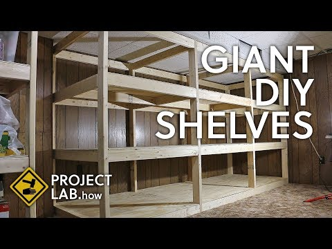 giant-shelves-made-from-2x4s-and-plywood