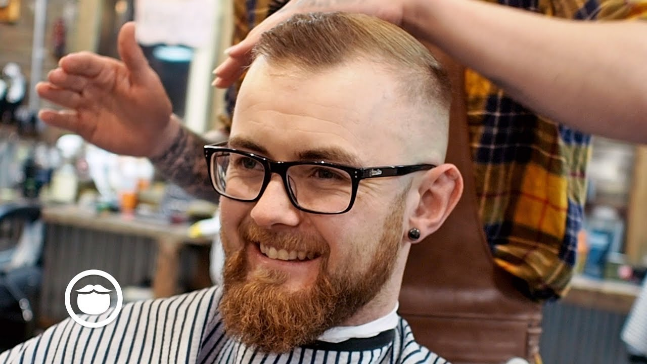 A Great Haircut For A High Hairline With Thin Hair Youtube