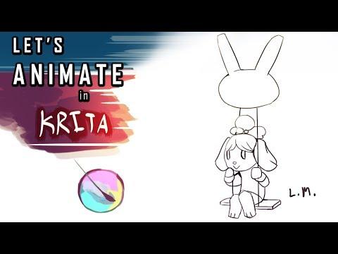 Let's Animate in Krita!   Zelda Animation