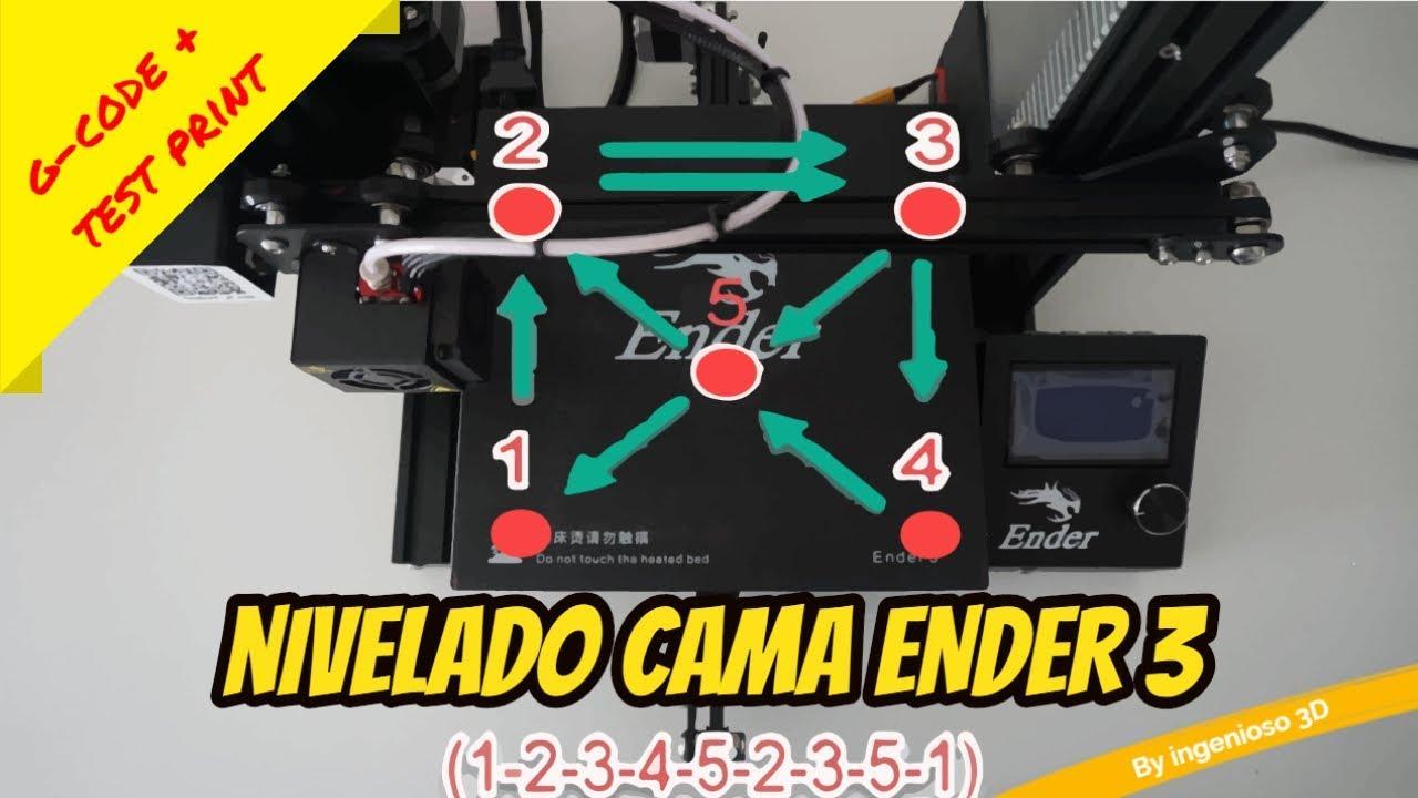 Ender 3 Bed leveling G-CODE + test print + LCD STEPS UPDATE