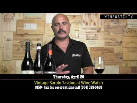 Vintage Barolo Tasting at Wine Watch - click image for video