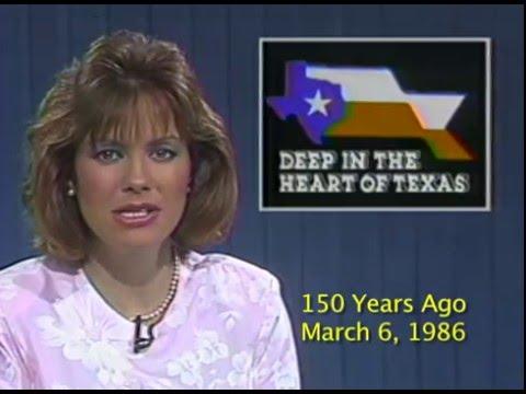 FALL OF THE ALAMO - KWTX Alamo-reenactment story on March 6, 1986, exactly 150 years later.