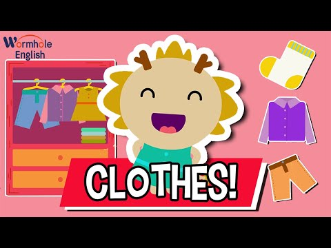 What Are You Wearing? ♫   Clothes Song   Wormhole English Music For Kids