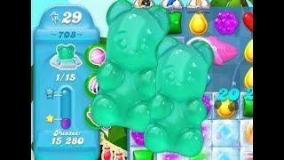 Candy Crush Soda Saga LEVEL 708 ★★★STARS( No booster )