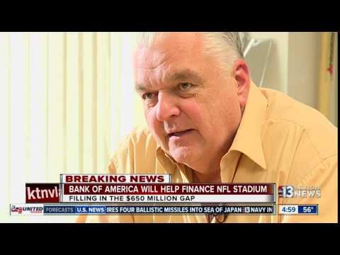 Steve Sisolak confirms Bank of America financing of stadium