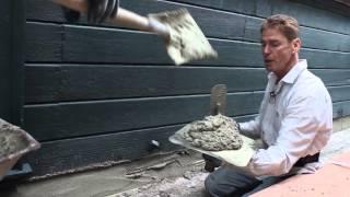One coat cement plaster foundation repairs