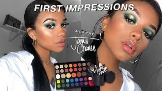 i suck at eyeshadow.. | james charles x morphe first impressions.