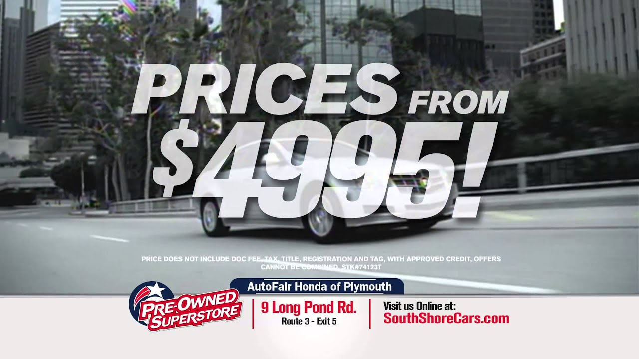 AutoFair Honda Of Plymouth   South Shore Pre Owned Superstore
