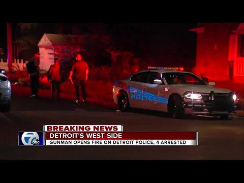 Detroit police officers not hurt after being shot at on city's west side