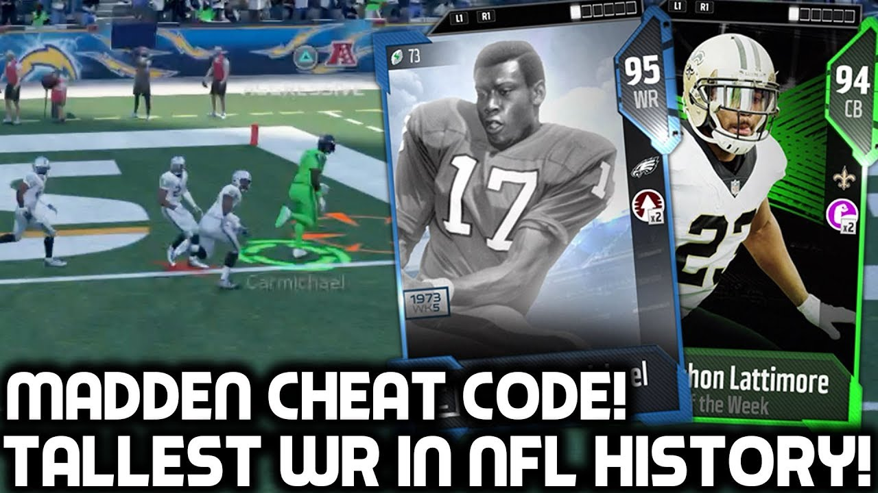 HE&#39;S A <b>MADDEN CHEAT CODE</b>! TALLEST RECEIVER IN NFL HISTORY! <b>Madden</b> ...