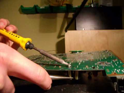de soldering electrolyte capacitor with a soldering youtube. Black Bedroom Furniture Sets. Home Design Ideas