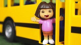 Dora la Exploradora Juguetes en Español 🚍 Dora va en autobus con sus amigos