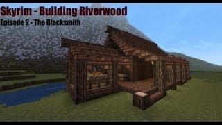 minecraft blacksmith skyrim riverwood building tutorial