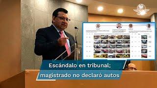 Según informes patrimoniales, Felipe Alfredo Fuentes no agregó vehículos de lujo, pese a que mandó a arreglar cuatro, con valor de 2.3 millones de pesos