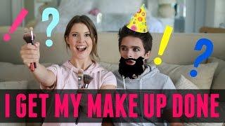 I Get My MAKE UP Done!?!? (w/ Amanda Cerny) | Brent Rivera