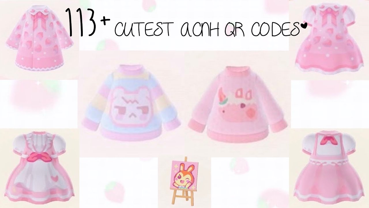 113 Cutest Acnh Qr Codes Cute Pretty Pastel Kawaii Angelic