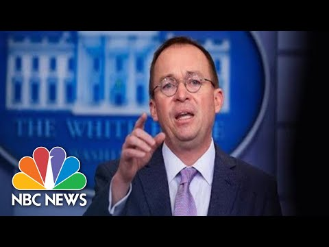 Watch Live: White House Press Briefing With Mick Mulvaney | NBC News
