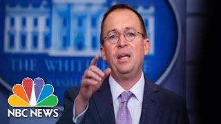 Watch live: White House press briefing with Mick Mulvaney