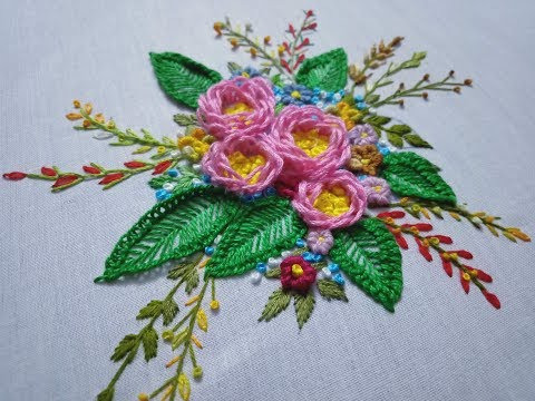 Hand embroidery. Hand embroidery design tutorial.. thumbnail