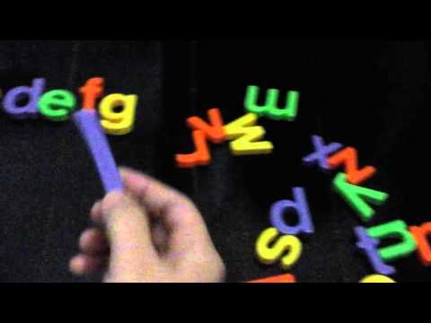 Alphabet: Charm's Magnetic letters and numbers( teach time)