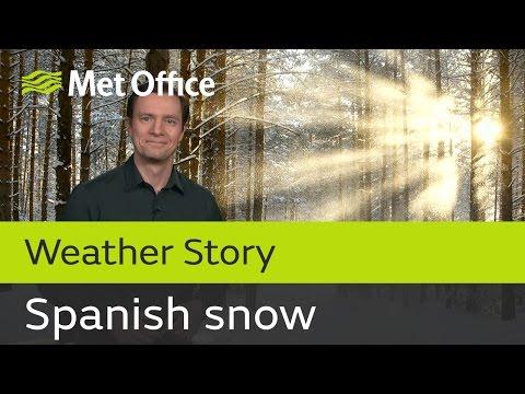 European cold snap brings snow to Spain
