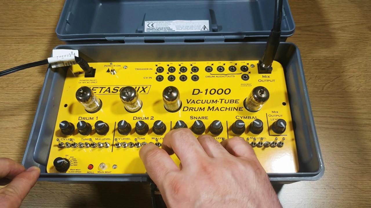 metasonix d 1000 vacuum tube drum machine jam youtube