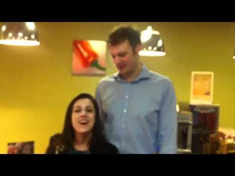 Tall man, short girl