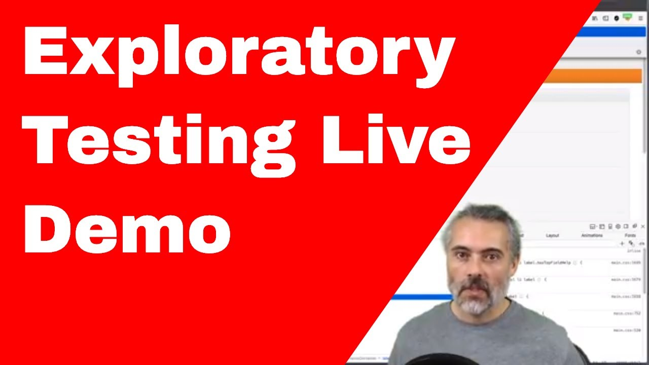 Live Web Exploratory Technical Testing Session Example