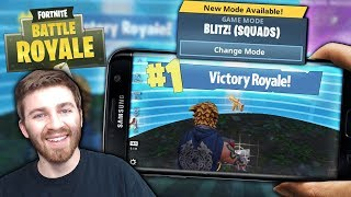FIRST BLITZ SOLO MOBILE VICTORY ROYALE! FORTNITE 1st PLACE MOBILE BLITZ GAMEPLAY!!