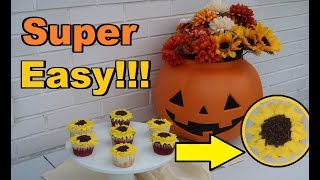 How to make SUNFLOWER CUPCAKES!!! So Easy!!   Frenchies Bakery