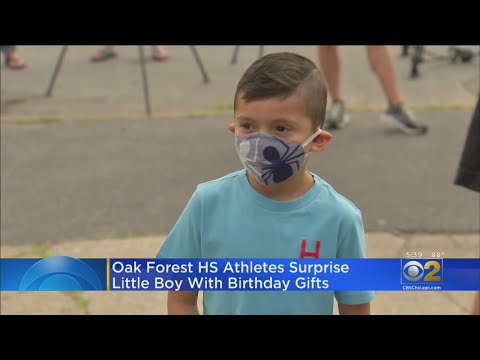Oak Forest High School Athletes Have Surprise For Harvey Boy