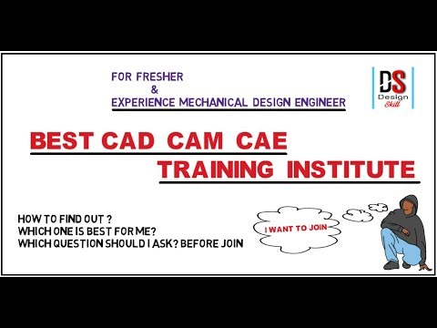 Best CAD CAM CAE Training Institute For Fresher Mechanical Engineers In Hindi