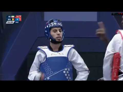 -68 kg QFWuxi 2017 World Taekwondo Grand Slam  Jaouad ACHAB(BEL) vs Mirhashem HOSSEINI(IRI)