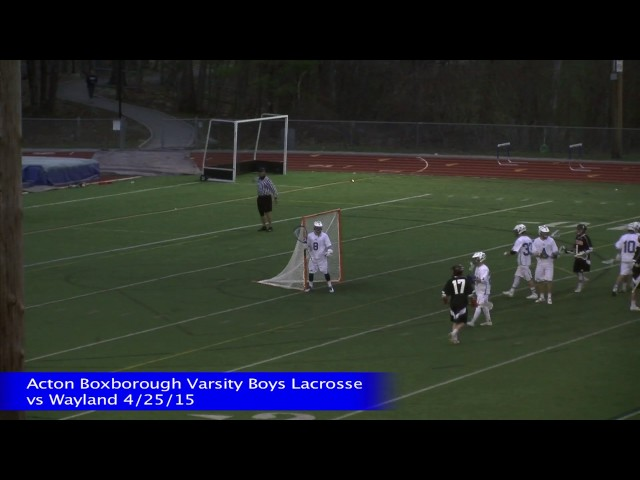 Acton Boxborough Boys Lacrosse vs Wayland 4/25/15