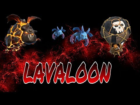 CLASH OF CLANS :-LAVALOON Attack Strategy for RAIDING!!!!!!