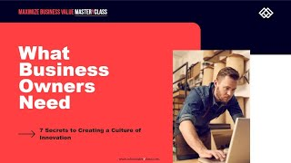 Maximize Business Value MasterYclass Webinar 20210408
