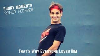 Tennis. Roger Federer - TOP EVER FUNNY Moments (part 2)