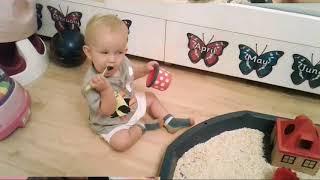 Oats Sensory Play in Bossom Burj Babies class