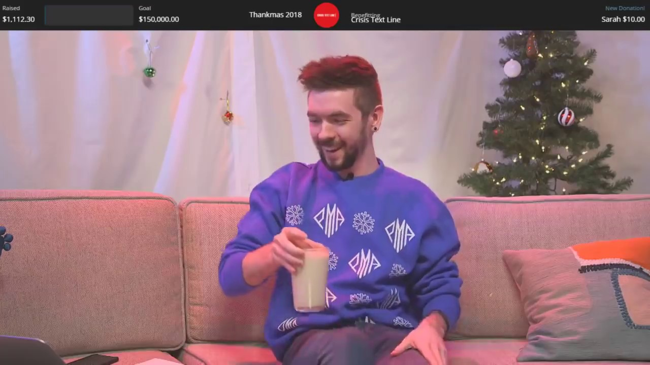 Jacksepticeye Christmas Stream 2020 Christmas Charity Livestream   Thankmas 2018 #Thankmas   YouTube