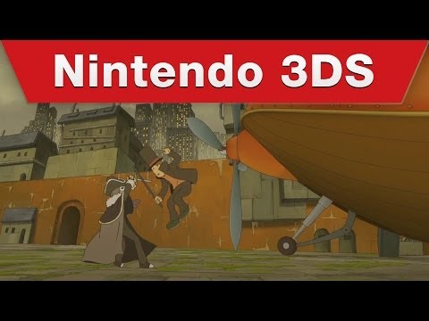 Make Nintendo 3DS - Professor Layton and the Azran Legacy Launch Trailer Screenshots