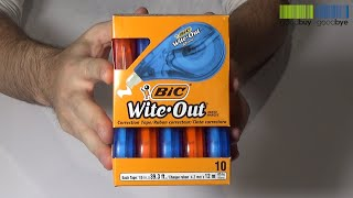 bIC Wite Out EZ Correct Correction Tape Review