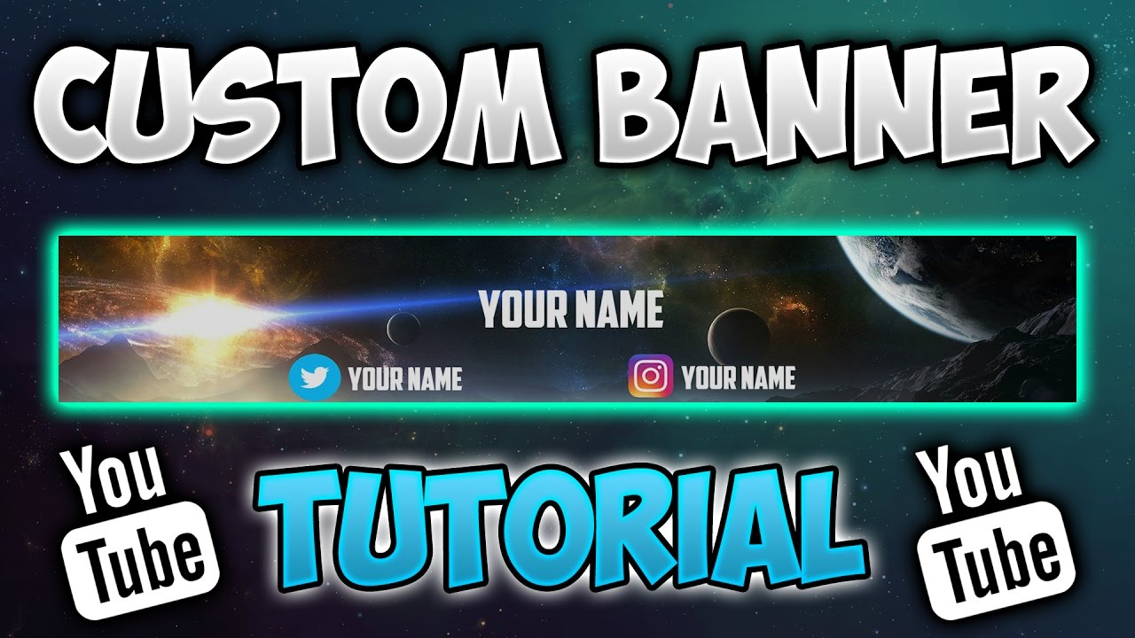 how to make a youtube banner without photoshop pixlr tutorial