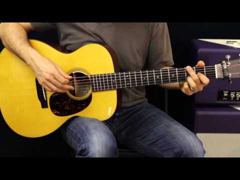 Acoustic Guitar Lesson - Drop D Tuning - Chords - Rhythm Ideas - EASY