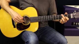 Acoustic Guitar Lesson - Drop D Tuning - Chords - Rhythm Ideas - EASY