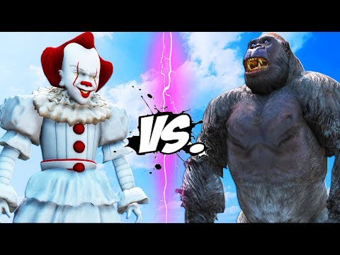 KING KONG vs PENNYWISE (IT) - Epic Battle